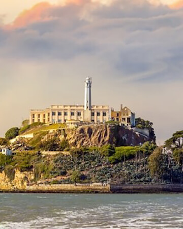 View of Alcatraz from the water